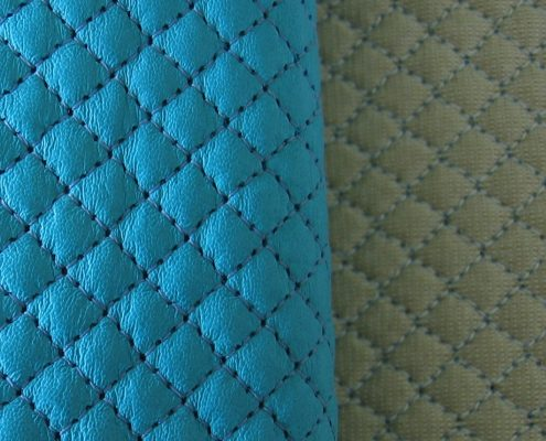 Different textures of quilting
