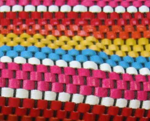 Colored braided leather
