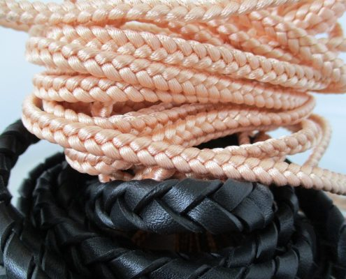 Mix of materials for braids