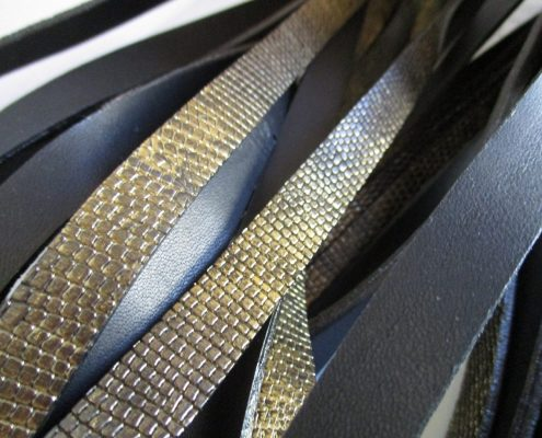 Italian trims made of leather