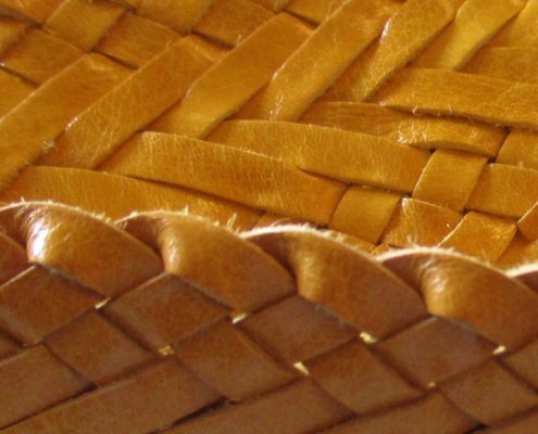 Production of leather braids