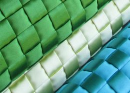 Braided leather manufactured