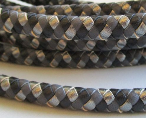 Italian round leather braids